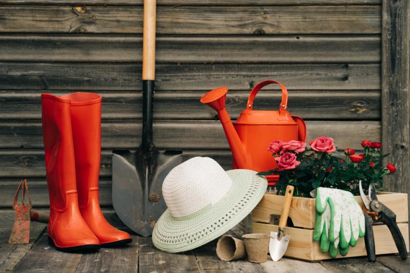 Praktisk trädgårdsförvaring